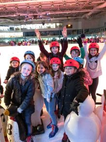 Ice skating party for April